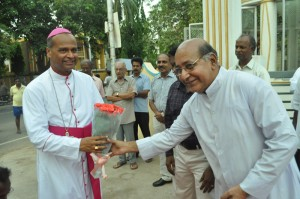 Archbishop Rev George Antonysamy at Our Lady of Visitation Church. St.Mary's Road, on 26-5-13