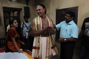 (Working Still)Director Gnana Rajasekaran with Bhama and Abhinay Vaddi