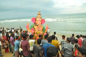 VINAYAGAR at patinampakkam beach  on 15-9-13