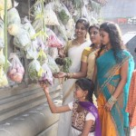 New Year at Iyyappa Swami Temple: decorations of fruits, flowers