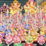 Sale of images of Lord Ganesha begins on North Mada Street