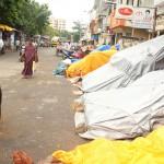 Hawkers close shops at North Mada Street