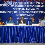 Seminar on biosciences held at MGR Janaki College