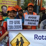 Traffic awareness campaign organised by Rotary Clob