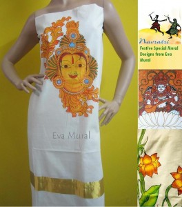 Handpainted Mural work on Kurthi by Eva Mural