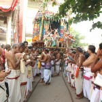 Chariot procession on Sunday at brahmotsavam of Sri Madhava Perumal Temple