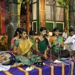 Time to unwind at temple; music floats around . . .