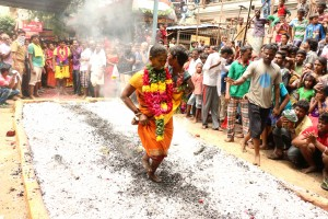 Fire walk at Nagathammman temple, Mylapore
