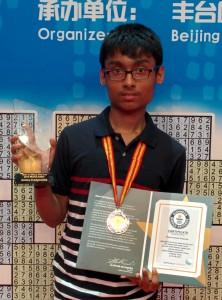 Pranav Kamesh.S -sudoku champion