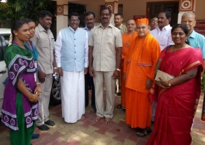 Ramakrishna math, visit by governor of Meghalaya