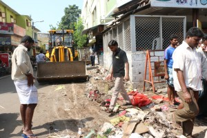 Corporation removing shops at South Mada Street