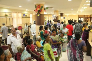 Queue at Indian Bank