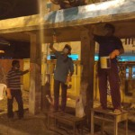 Clean up after dark; by NGO Thuvakkam