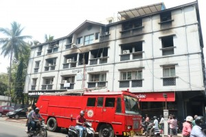 FIRE ENGINE AT CP RAMASWAMY ROAD
