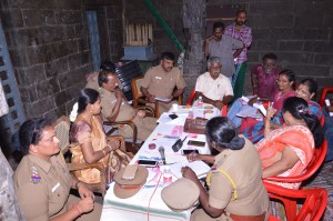 Police meeting at Kapali temple