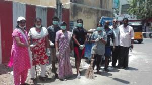 Raja Street residents clean streets