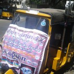 Auto driver waives fee to campaign for Mylapore candidate S. Sheela