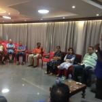 MLA meets MRC Nagar community