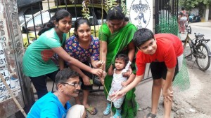 Tree planting at Raja Street, Mandaveli