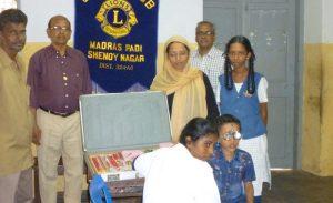 Eye camp held at Lady Sivaswami
