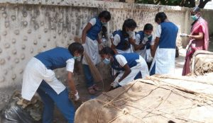 Lady sivaswami girls school - cleaning campaign