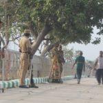 Police men and women patrol Marina; Sec.144 still in force