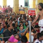 Pooja held for school students at Sri Vedanta Desikar Temple