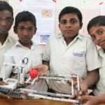 Exhibition of robotic projects by students of Ramakrishna Mission Students' Home