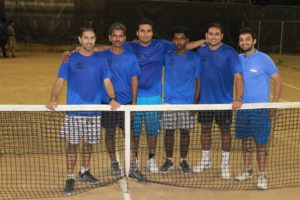 From left to right- Vikram Prabhakar, Veeranthiran, Keshav Narasimhan, Ravanth, Sooraj Viswanathan and Aakash Balachander