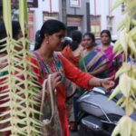 Hawkers flood South Mada Street with their wares on the eve of Tamil New Year