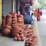 Looking for clay pots ? Many stalls on R. K. Mutt Road