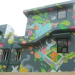Mural art on a house - does this painting tell a story?