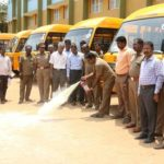 Mandaveli RTO officials inspect school vans and buses
