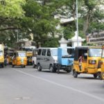 Traffic chaos outside gate of M. Ct. M. School, Alwarpet