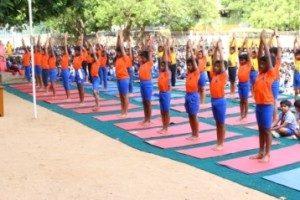 Yoga day chettinad vidyashram