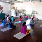 Asanas and meditation mark Yoga Day celebrations in the neighbourhood