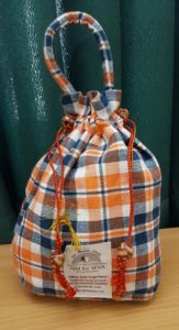 Crunchy Bag Big Orange & White Checks