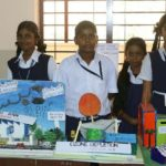 Charts and models on pollution control displayed by P. S. School students on project day