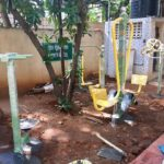 Gym equipment installed at Corporation park at R. A. Puram