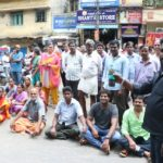 V. C. Garden Street residents stage road roko to highlight civic problems