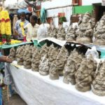 Clay images of Vinayaka now on sale in Luz