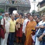 Sunday's temple heritage walk draws a crowd