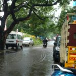 Rains bring much needed water; and also water logged streets
