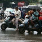 Heavy showers since morning; Schools stay open