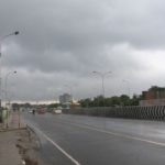 Rain-bearing clouds across the Adyar