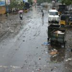 Monsoon: Saturday morning. Civic workers in action at trouble spots