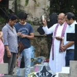 Catholics visit local graveyards to pray for the departed; today is All Souls Day