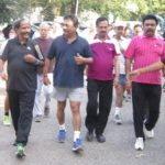A walk with Mylapore MLA R. Nataraj