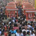 Thousands take part in arubathimoovar procession