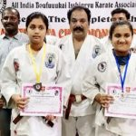 Students from local schools participate in karate tournament